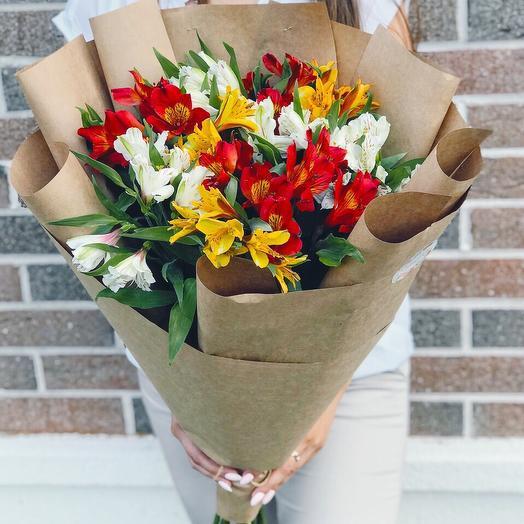 Микс 11 альстромерий: букеты цветов на заказ Flowwow