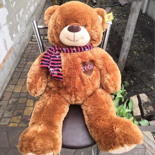 Медведь плюшевый 8: букеты цветов на заказ Flowwow