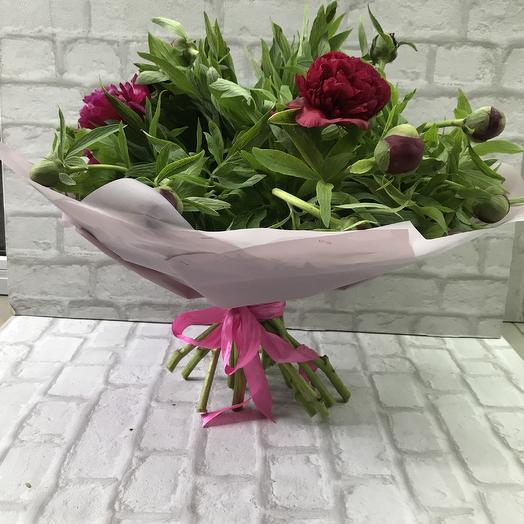 15 пионов💜: букеты цветов на заказ Flowwow