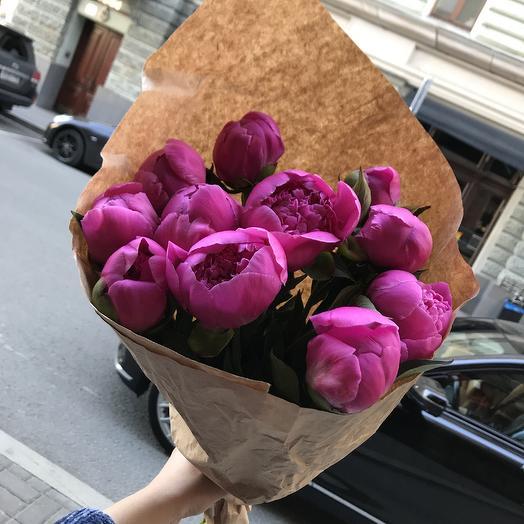 Шикарные пионы для моей любимой: букеты цветов на заказ Flowwow