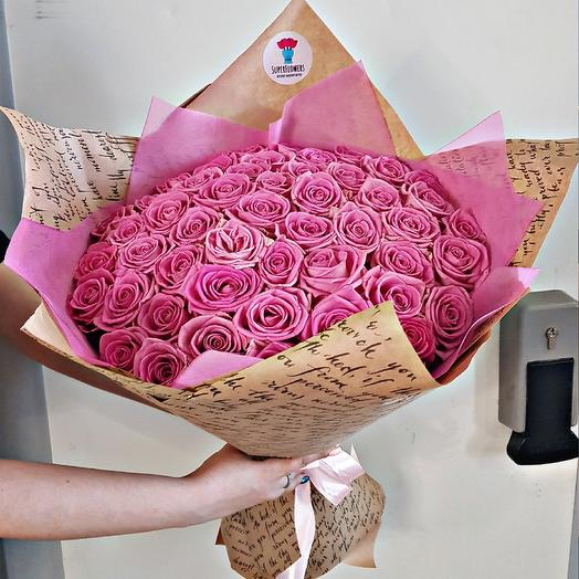 Букет из роз. 51 розовая роза: букеты цветов на заказ Flowwow