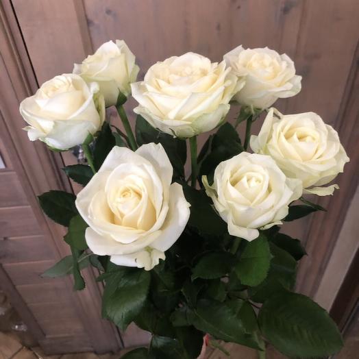 """Букет роз для сестры """"7 белых розочек"""""""