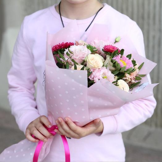 Этюд в розовых тонах: букеты цветов на заказ Flowwow