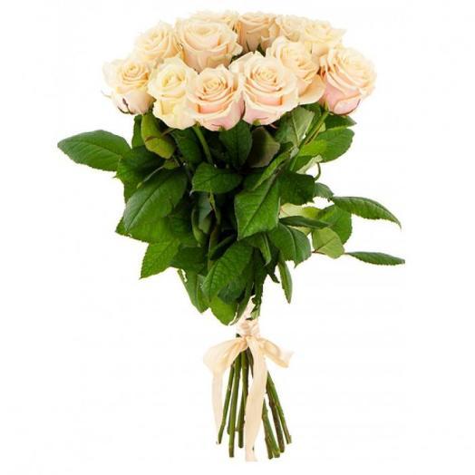 """Букет роз """"Кремовый десерт"""": букеты цветов на заказ Flowwow"""