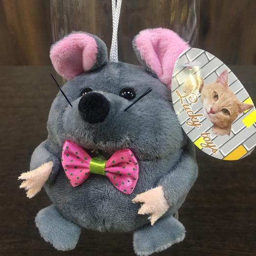 Мягкая игрушка «Мышонок серый говорящий»: букеты цветов на заказ Flowwow