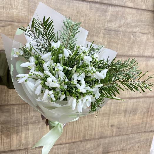 Настоящие подснежники на удивление: букеты цветов на заказ Flowwow