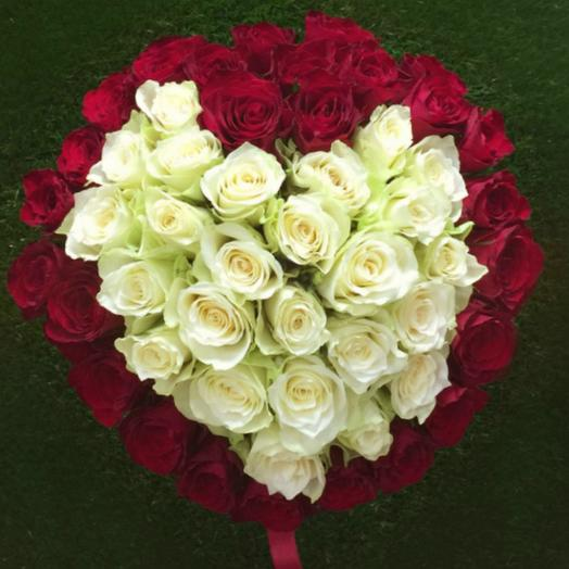 Вместе навсегда 55 роз