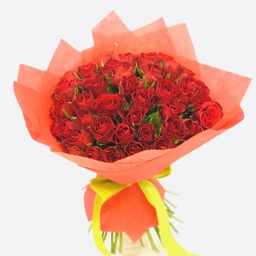 Букет из 51 розы Кения 40 см