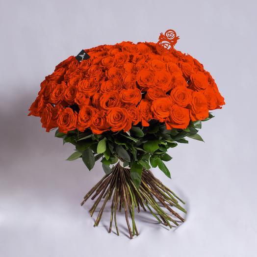 101 роза премиум красная