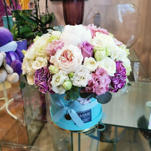 Пион, эхиверия и гвоздика тинтед: букеты цветов на заказ Flowwow