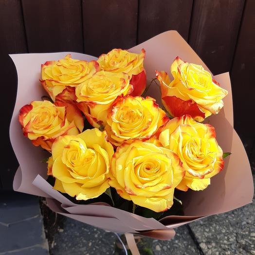 Букет из 9 роз Хай Еллоу