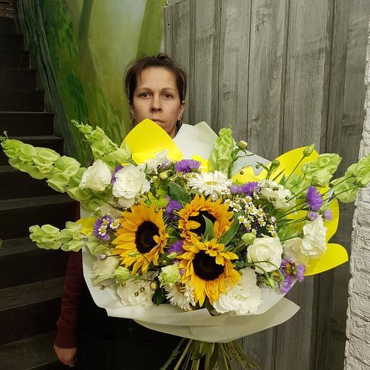 "Букет ""лето"" с подсолнухами: букеты цветов на заказ Flowwow"