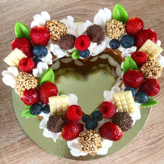 Торт сердце Для тебя