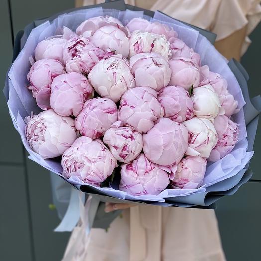 Букет из пионов Розовое лето