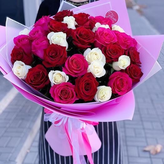 Букет роз « Океан чувств»