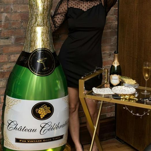 Шар-бутылка шампанского
