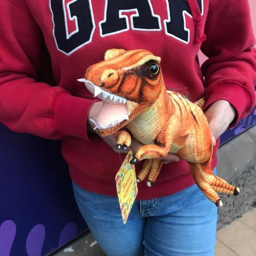 Мягкая игрушка динозавр