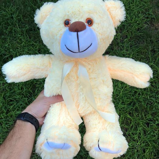 Плюшевий ведмедик 50 см персиковий