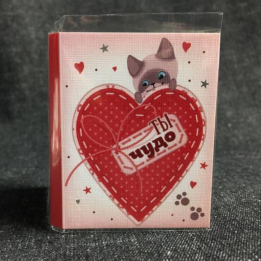 Мини-открытка с шоколадом