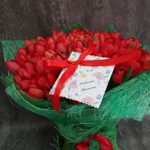 101 красных тюльпанов