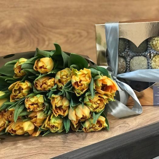 Тюльпаны с конфетами
