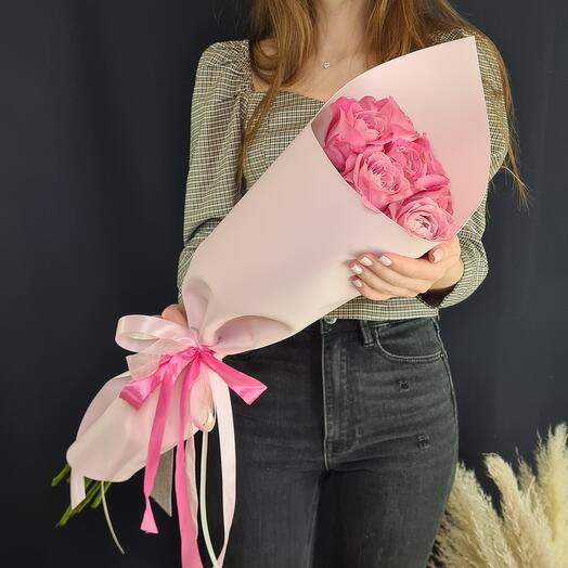 Букет из 7 крупных роз 💐