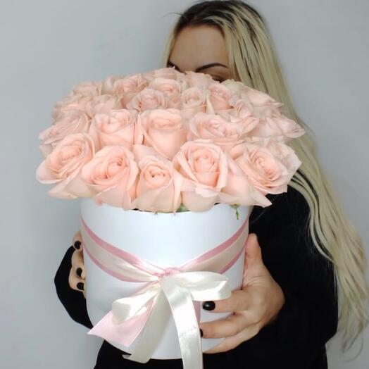 Роза 21шт в коробке