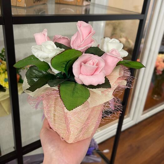 Букет из мыла «Нежные розы»