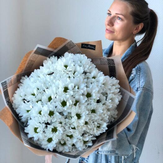 Ромашковый букет хризантем 0009