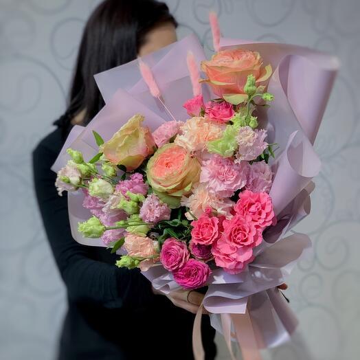 Японские розы и Эустома