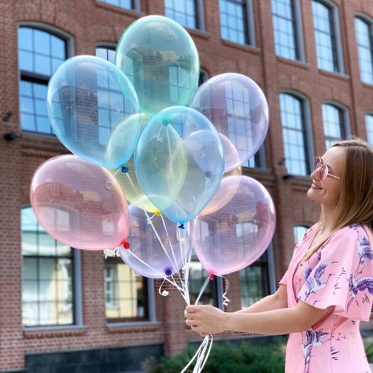 Сет из 9 прозрачных шаров