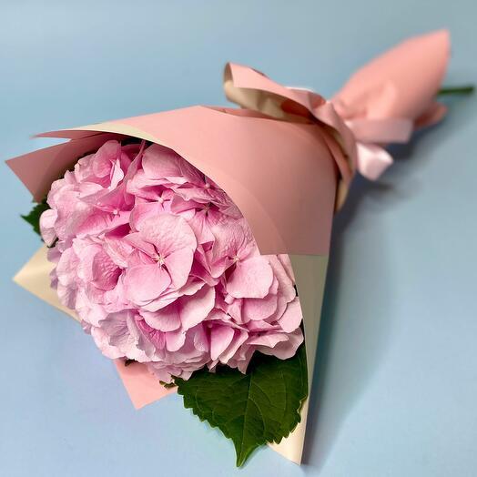 Букет с розовой Гортензией