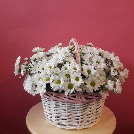 Корзина с цветами  Маргаритка