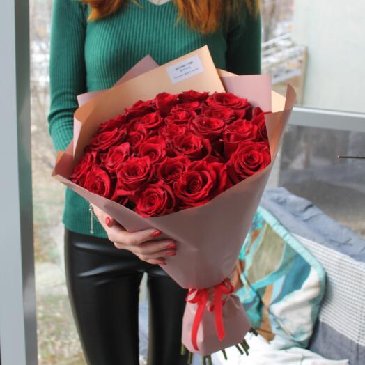 Букет 25 шикарных Эквадорских роз