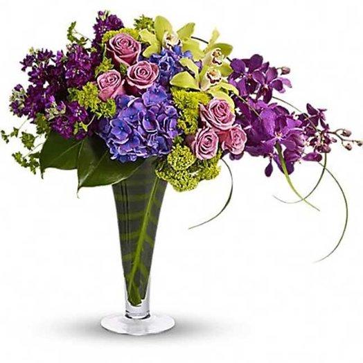 Букет «Сиреневый туман»: букеты цветов на заказ Flowwow