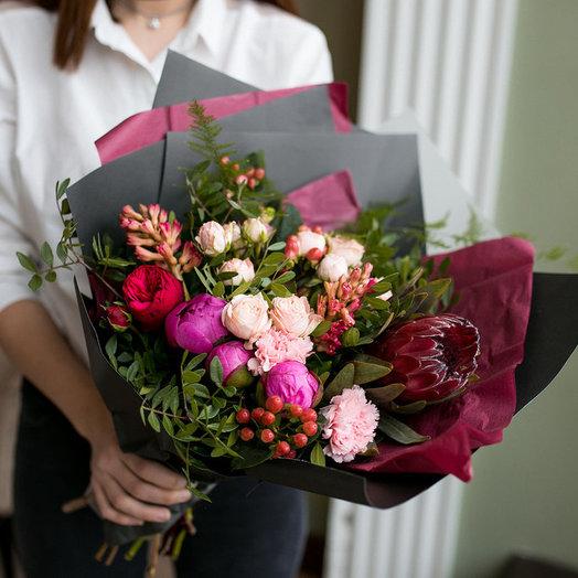 Авторский букет с африканской розой: букеты цветов на заказ Flowwow