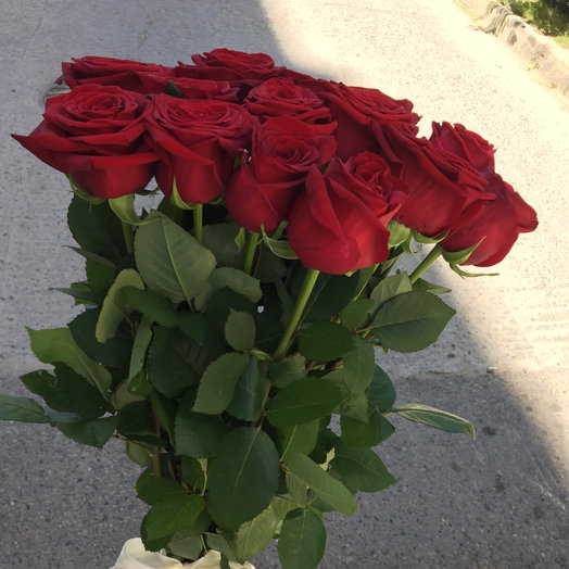 15 красных роз 75 см: букеты цветов на заказ Flowwow