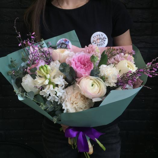 Малина со сливками: букеты цветов на заказ Flowwow