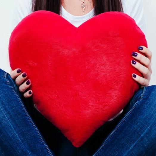 Сердце плюшевое