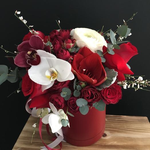 Коробочка цвета - любви ️: букеты цветов на заказ Flowwow