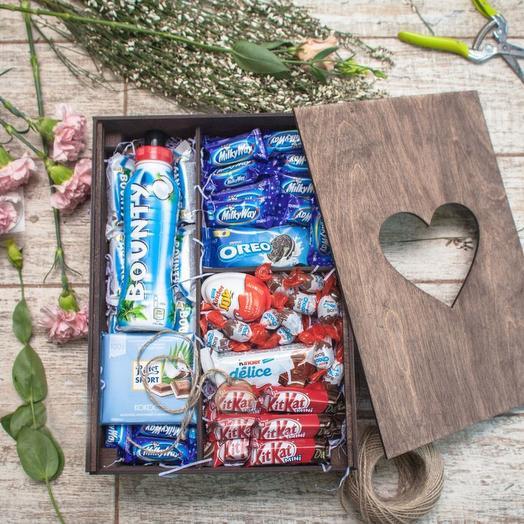 """Подарочный набор """"Сладкая шкатулка 1"""": букеты цветов на заказ Flowwow"""