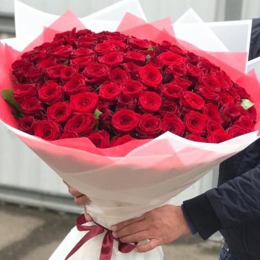 101 роза счастья: букеты цветов на заказ Flowwow