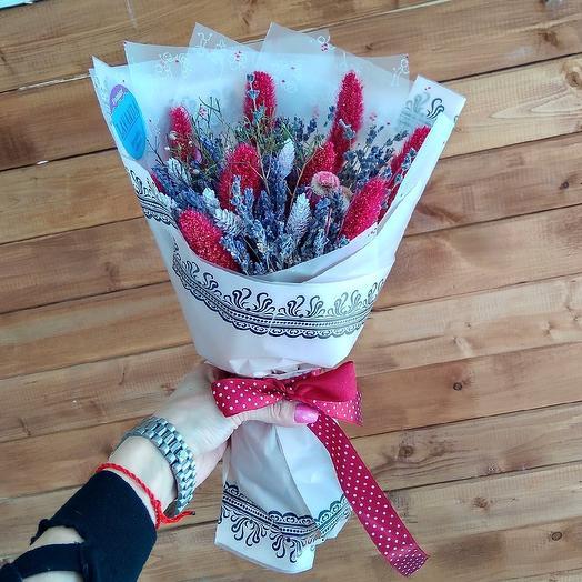 "Букет - сухоцвет "" Сердце Прованса"": букеты цветов на заказ Flowwow"