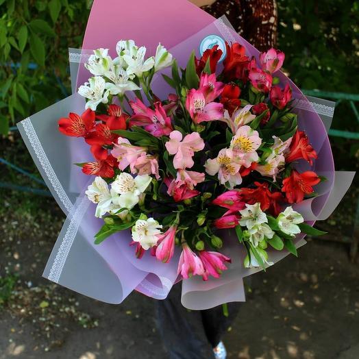 Альстромерия цветная: букеты цветов на заказ Flowwow