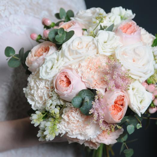 Экслюзивный свадебный букет классической формы