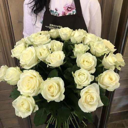 """Большой букет из роз """"31 белая розочка"""""""