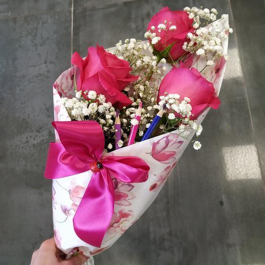 Букет школьника на 1 сентября (3): букеты цветов на заказ Flowwow
