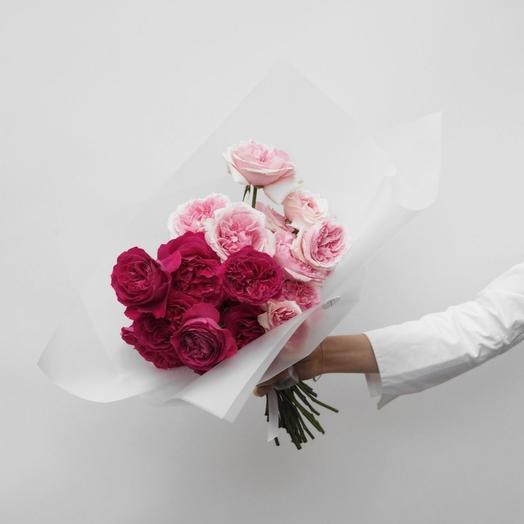 Монобукет из пионовидных роз: букеты цветов на заказ Flowwow