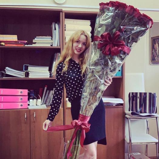 Гигантская роза: букеты цветов на заказ Flowwow