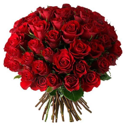 """Букет из 51 красной розы """"Аленький цветочек"""": букеты цветов на заказ Flowwow"""